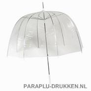 transparante paraplu, paraplu bedrukken, paraplu bedrukt, paraplu met logo, paraplu met opdruk, RD-1