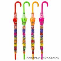 Transparante paraplu bedrukken, LA-30-ASS, Holland paraplu, tulp paraplu, transparante tulp paraplu bedrukt